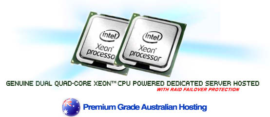 Powerful Multiple Quad-Core Xeon CPU Powered Website Hosting